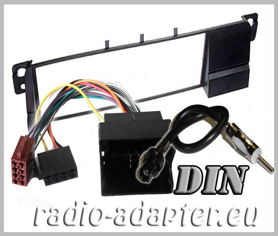 bmw e46 ab 2001 radioblende radioadapter din autoradio. Black Bedroom Furniture Sets. Home Design Ideas